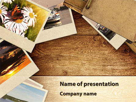 Summer Memories Photo PowerPoint Template, 08915, Careers/Industry — PoweredTemplate.com