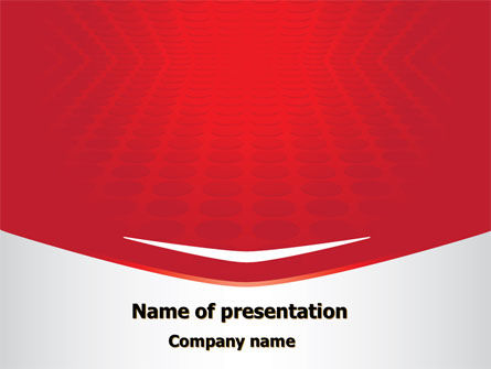 Red Circles Texture PowerPoint Template