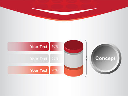 Red Circles Texture PowerPoint Template Slide 11