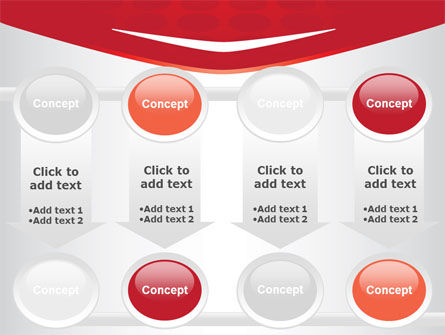 Red Circles Texture PowerPoint Template Slide 18