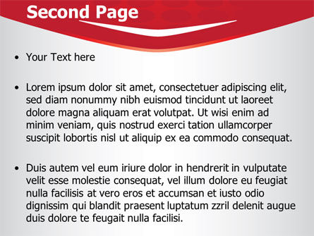 Red Circles Texture PowerPoint Template Slide 2