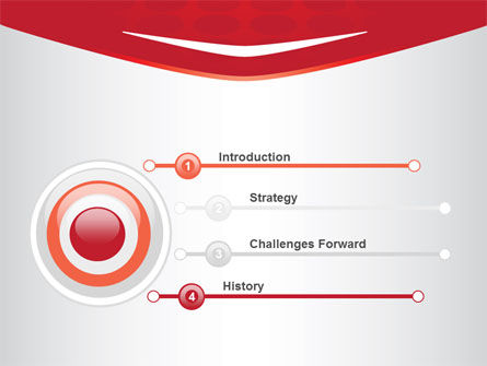 Red Circles Texture PowerPoint Template Slide 3