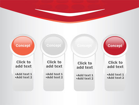 Red Circles Texture PowerPoint Template Slide 5
