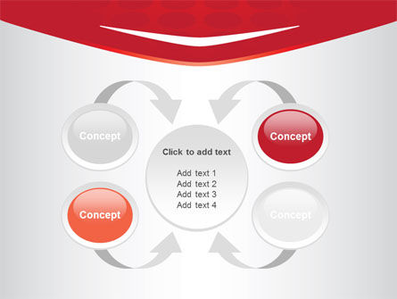 Red Circles Texture PowerPoint Template Slide 6