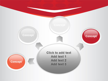 Red Circles Texture PowerPoint Template Slide 7