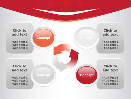 Red Circles Texture PowerPoint Template Slide 9