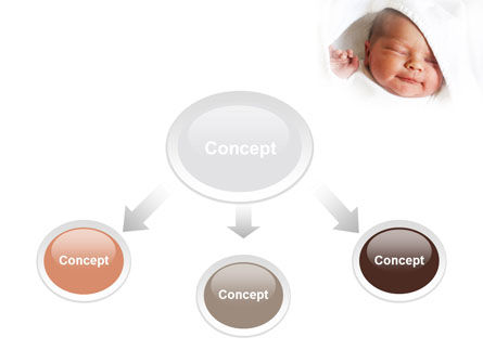 Little Baby Sleeping PowerPoint Template Slide 4