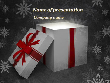 Christmas Present Box PowerPoint Template, 08920, Holiday/Special Occasion — PoweredTemplate.com