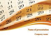 Calendar PowerPoint Template#1
