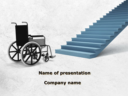 Wheel Chair PowerPoint Template, 08922, Religious/Spiritual — PoweredTemplate.com