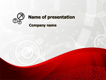 Abstract/Textures: Red Wave Theme PowerPoint Template #08923