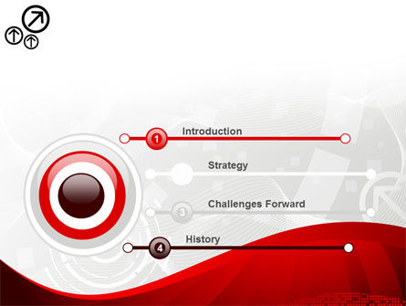 Red Wave Theme PowerPoint Template Slide 3