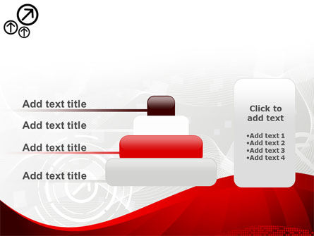 Red Wave Theme PowerPoint Template Slide 8