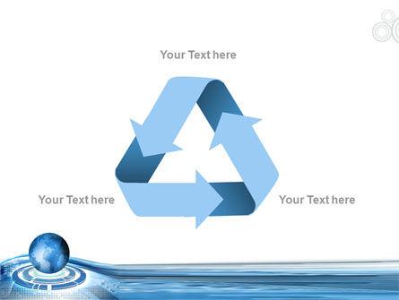 Blue Tech Globe PowerPoint Template Slide 10