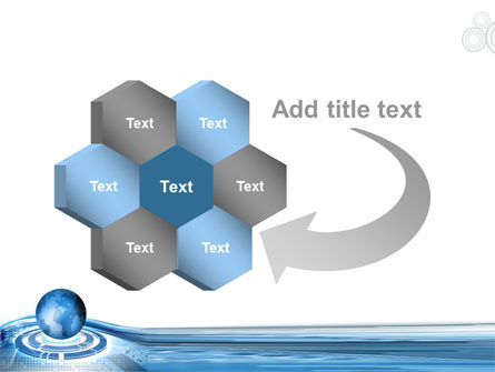Blue Tech Globe PowerPoint Template Slide 11