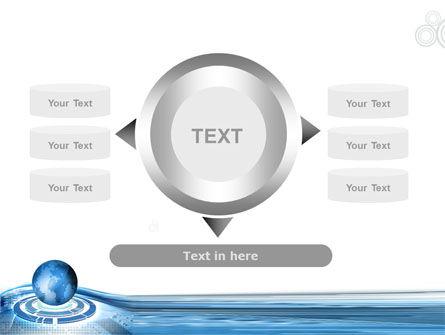 Blue Tech Globe PowerPoint Template Slide 12