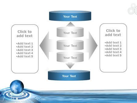Blue Tech Globe PowerPoint Template Slide 13