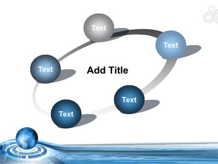 Blue Tech Globe PowerPoint Template Slide 14