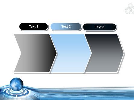 Blue Tech Globe PowerPoint Template Slide 16