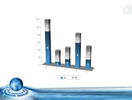 Blue Tech Globe PowerPoint Template Slide 17