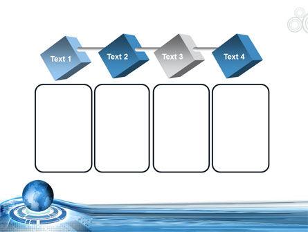 Blue Tech Globe PowerPoint Template Slide 18