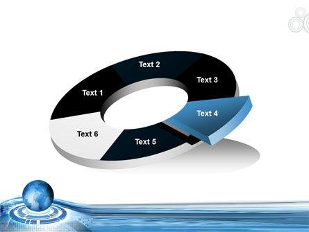 Blue Tech Globe PowerPoint Template Slide 19