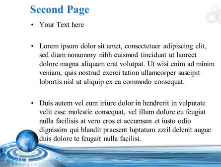 Blue Tech Globe PowerPoint Template Slide 2