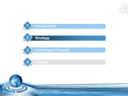 Blue Tech Globe PowerPoint Template Slide 3