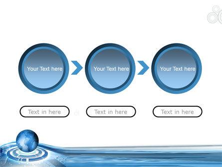 Blue Tech Globe PowerPoint Template Slide 5
