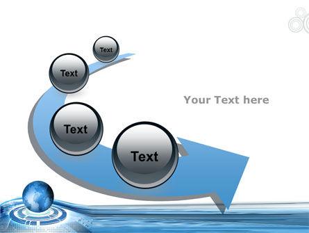 Blue Tech Globe PowerPoint Template Slide 6