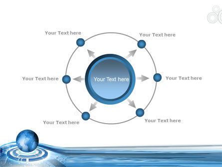 Blue Tech Globe PowerPoint Template Slide 7