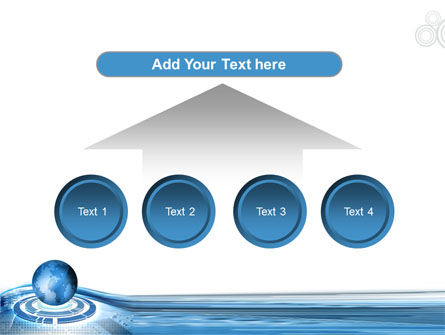 Blue Tech Globe PowerPoint Template Slide 8
