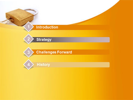 Brass Padlock PowerPoint Template, Slide 3, 08930, Careers/Industry — PoweredTemplate.com