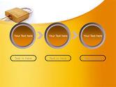 Brass Padlock PowerPoint Template#5