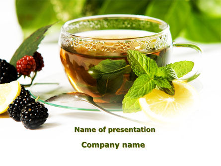 Food & Beverage: Mulberry Tea PowerPoint Template #08933