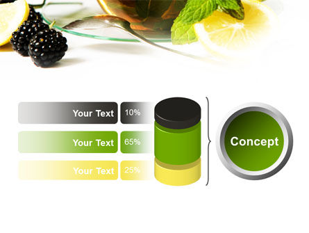 Mulberry Tea PowerPoint Template Slide 11