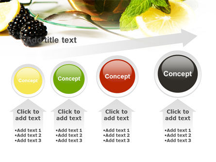 Mulberry Tea PowerPoint Template Slide 13