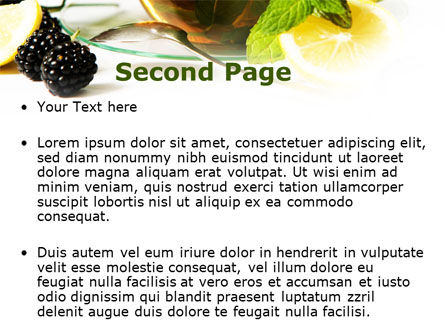Mulberry Tea PowerPoint Template Slide 2
