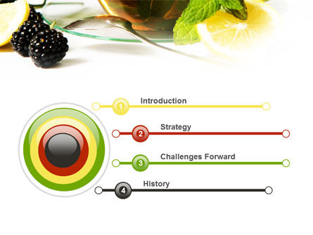 Mulberry Tea PowerPoint Template Slide 3