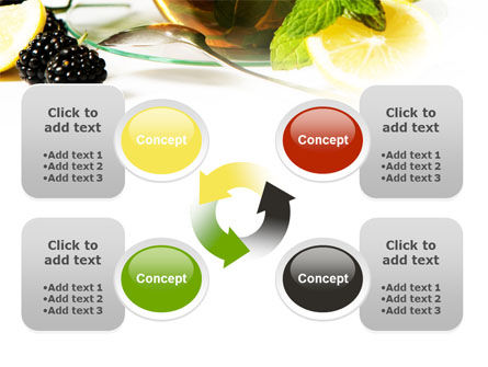 Mulberry Tea PowerPoint Template Slide 9