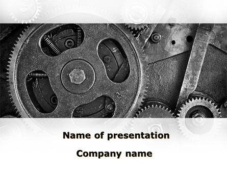 Cog Wheels PowerPoint Template, 08934, Utilities/Industrial — PoweredTemplate.com