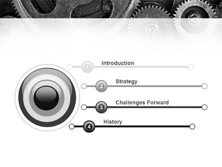 Cog Wheels PowerPoint Template, Slide 3, 08934, Utilities/Industrial — PoweredTemplate.com