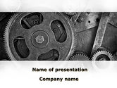 Utilities/Industrial: Cog Wheels PowerPoint Template #08934