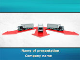 Cars and Transportation: Freight Car Logistics PowerPoint Template #08935