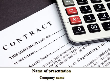 Financial/Accounting: Calculation Contract PowerPoint Template #08937