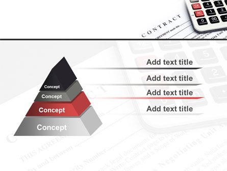 Calculation Contract PowerPoint Template Slide 12