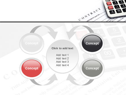Calculation Contract PowerPoint Template Slide 6