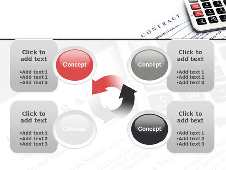 Calculation Contract PowerPoint Template Slide 9