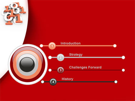 Binary PowerPoint Template, Slide 3, 08938, Technology and Science — PoweredTemplate.com