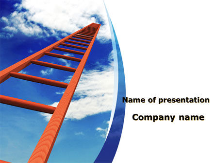 Ladder to Sky PowerPoint Template